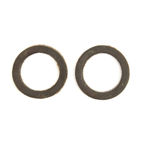 Original British Vickers and Lewis Gun Leather Oiler Gaskets - One Pair