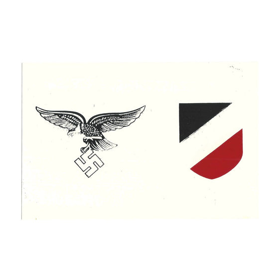 German WW2 Helmet Decal Set: Luftwaffe- Early War Style New Made Items
