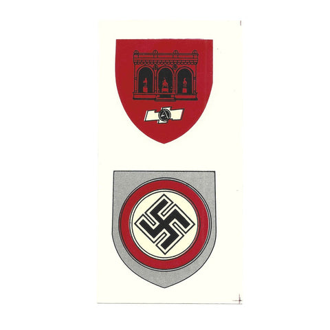German WW2 Helmet Decal Set:  SA FELDHERNHALLE