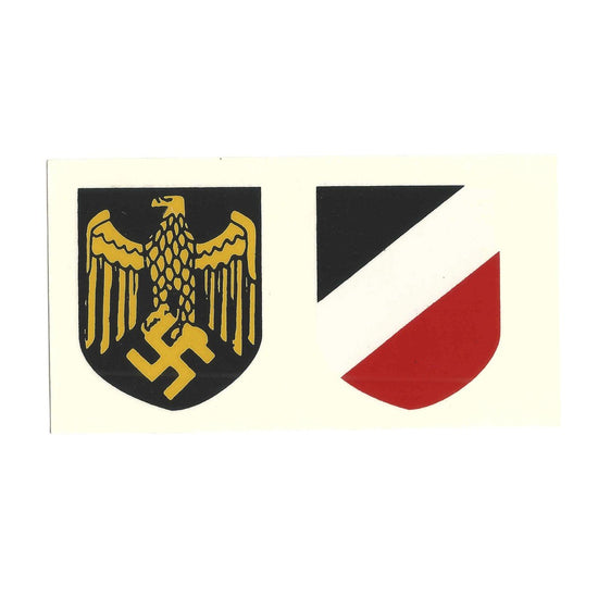 German WW2 Helmet Decal Set-Kriegsmarine, (Navy), Gold New Made Items