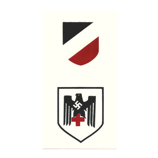 German WW2 Helmet Decal Set- DRK Red Cross - Deutsches Rotes Kreuz
