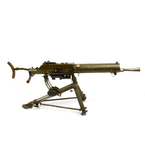 Original WWI Austria-Hungarian Schwarzlose 8mm MG M.07/12 Display Water Cooled Machine Gun with Tripod
