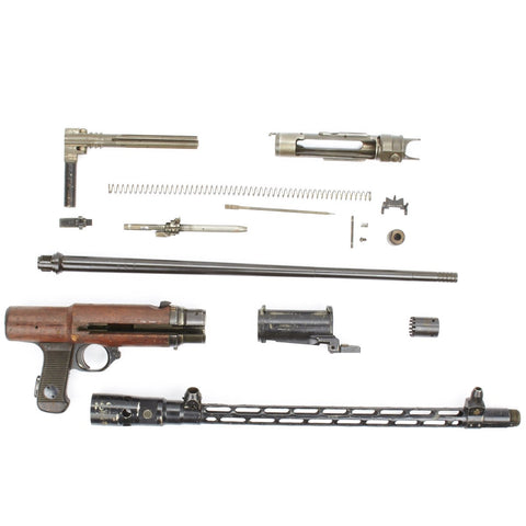 German MG 15 Air Cooled Parts Set with Wood Action Cover Original Items