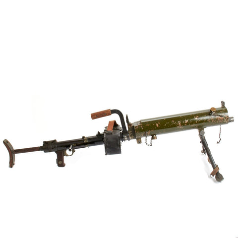 Original German WWII MG 15 Water Cooled Display LMG with Saddle Drum Magazine Original Items