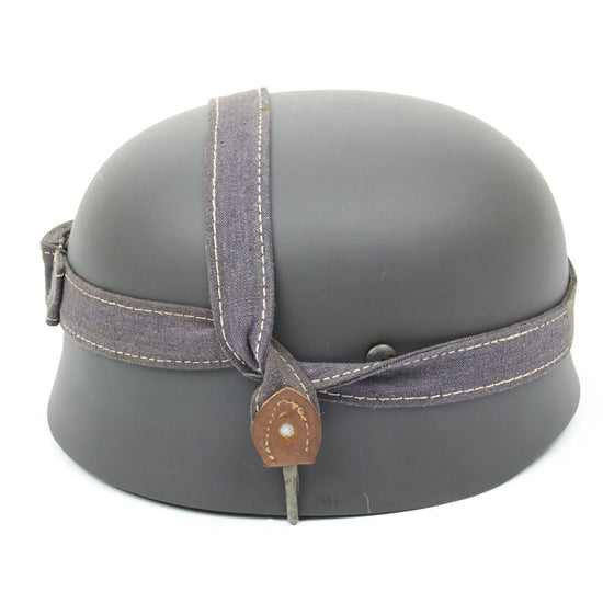 German WWII Paratrooper Fallschirmjäger Helmet Band - Bread Bag Utility Strap - Luftwaffe Blue