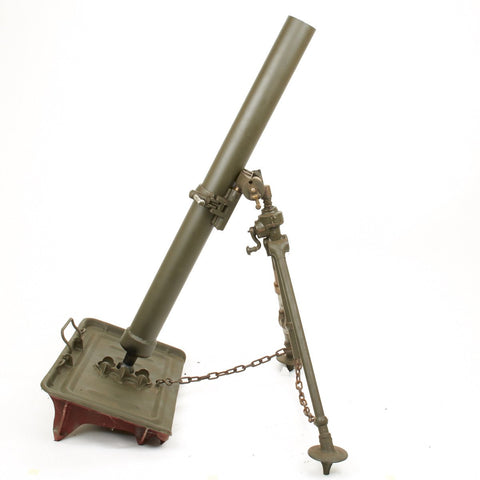 Original U.S. WWII M1 81mm Display Mortar