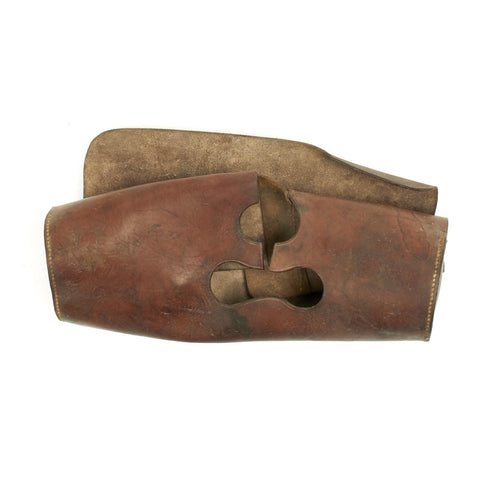 Original U.S. WWII M1 81mm Mortar Leather Tube Head Cover