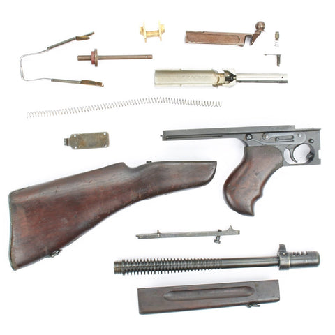 Original U.S. WWII Thompson M1928A1 SMG Complete Parts Set