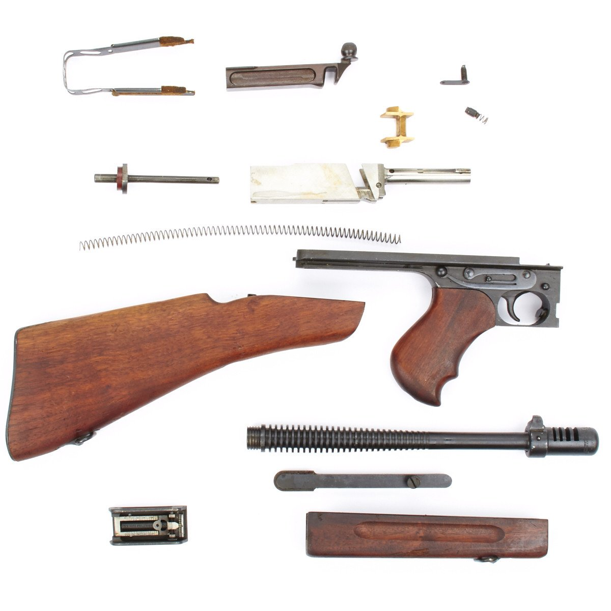 Original U S  WWII Thompson M1928A1 SMG Complete Parts Set