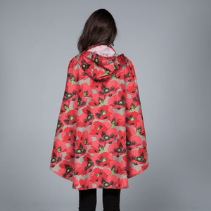November rain Rain poncho Poppies
