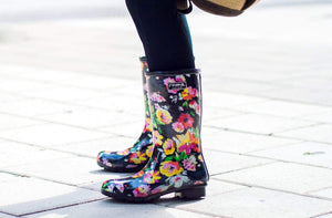 Roma Boots Boots Roma Black Floral Boots