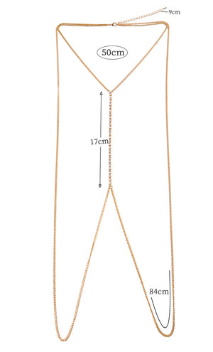 Candallese Body Chain (White)