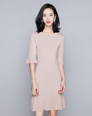 Allena Dress (Pink) (Non returnable)