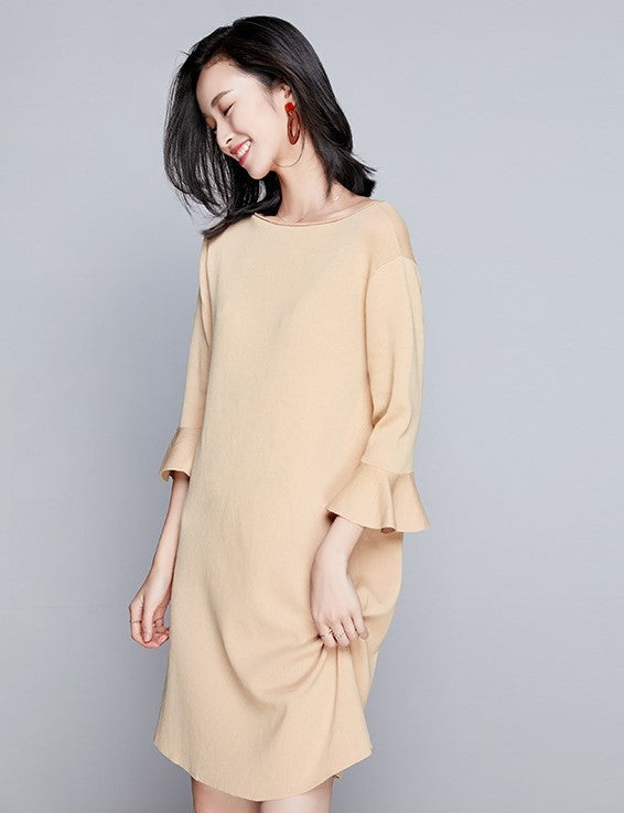 Cyndi Dress (Beige)(Non-Returnable)