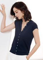 Helen Top (Navy)(Non-Returnable)