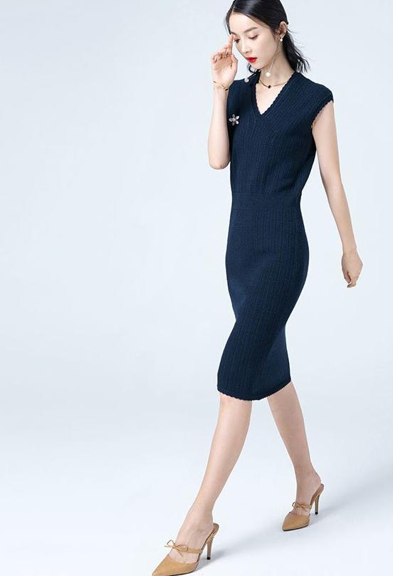 Melissa Dress (Navy)