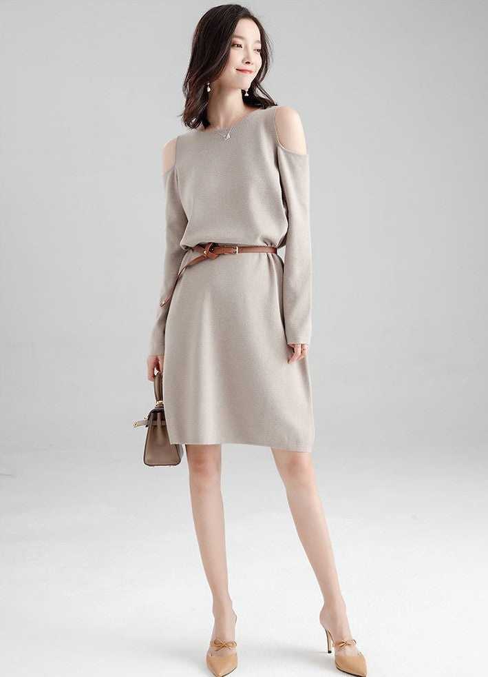 Janniea Dress (Beige) (Non-Returnable)