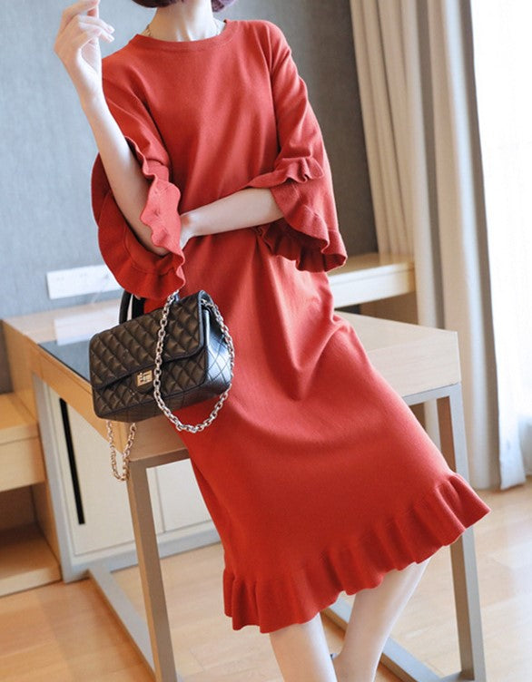 Hilde Dress (Red) (Non-Returnable)