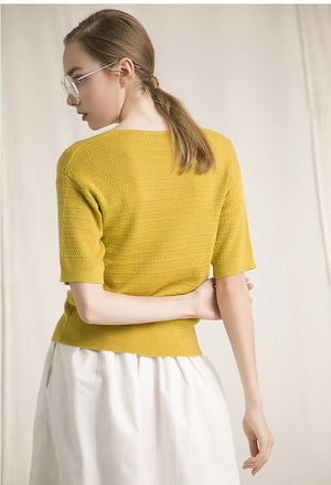 Berdina Top (Yellow)