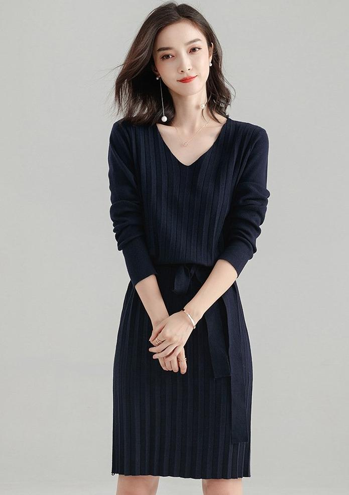 Maltese Dress (Navy)