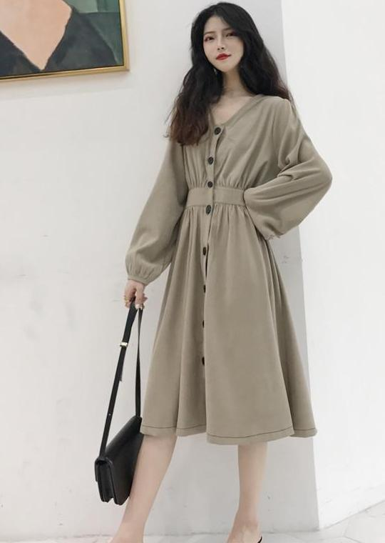 Queenie Dress (Beige)