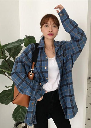 Allison Checkered Top (Blue)