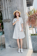 Lakota Dress (Light Grey) (Non returnable)
