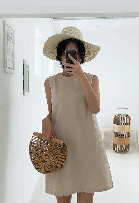 Canna Dress (Beige) (Non-Returnable)