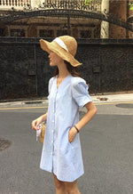 Tracy Dress (Light Blue) (Non-Returnable)