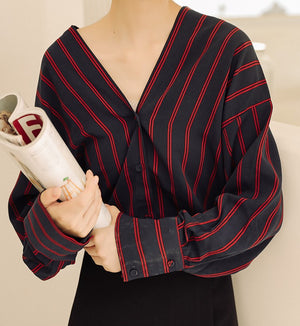 Armida Striped Top (Red)