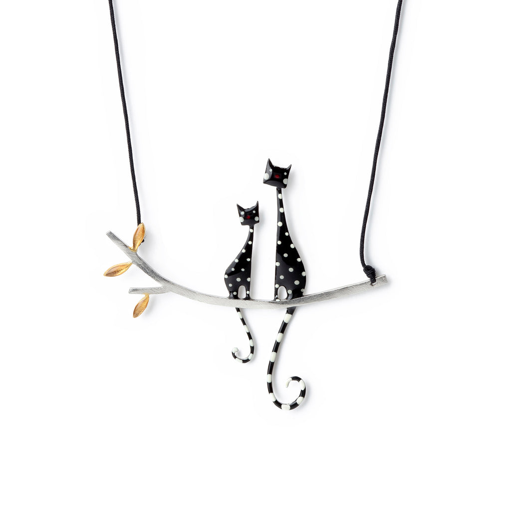 "Necklace ""Two cats"""