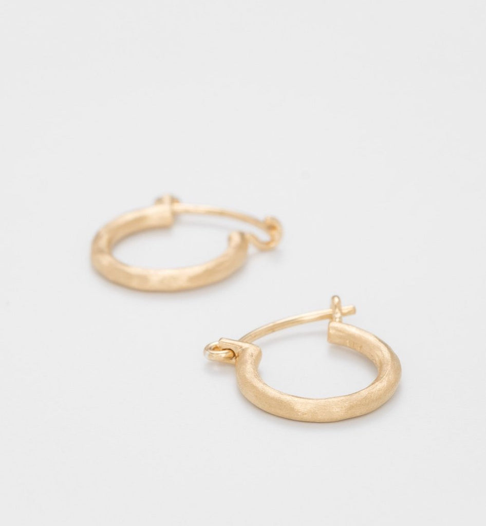 Gold Plated Small Round Hoops