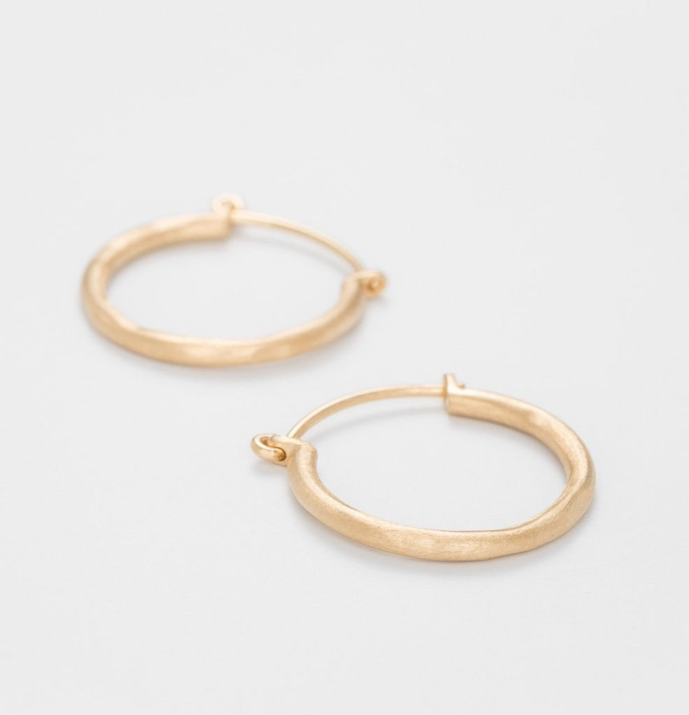 Gold Plated Medium Round Hoops