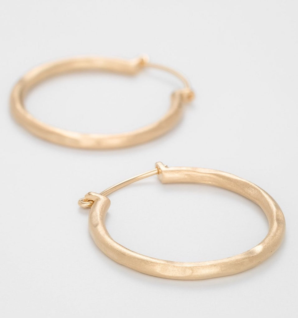 Gold Plated Large Round Hoops