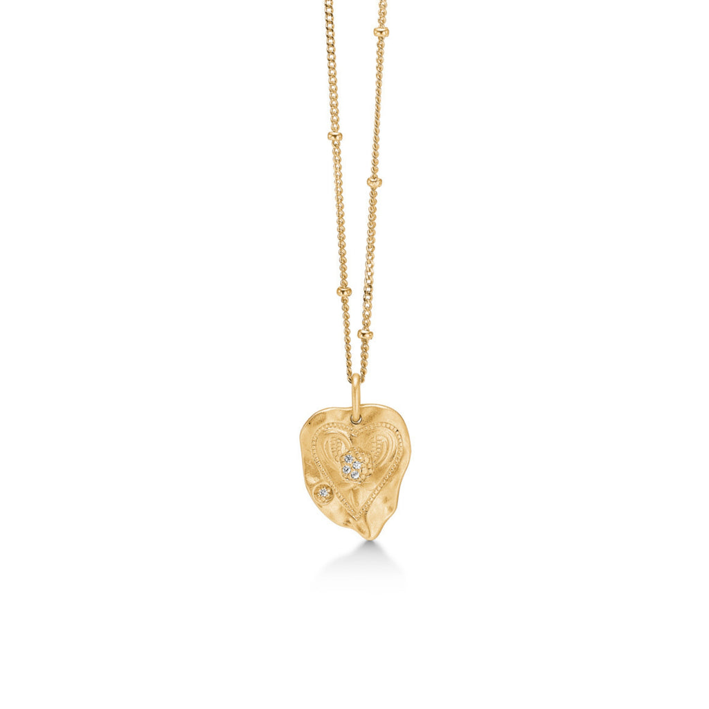 "Gold Plated Silver Necklace ""Mini Darling"""