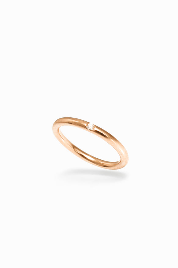 Rose Gold Diamond Stacking Ring