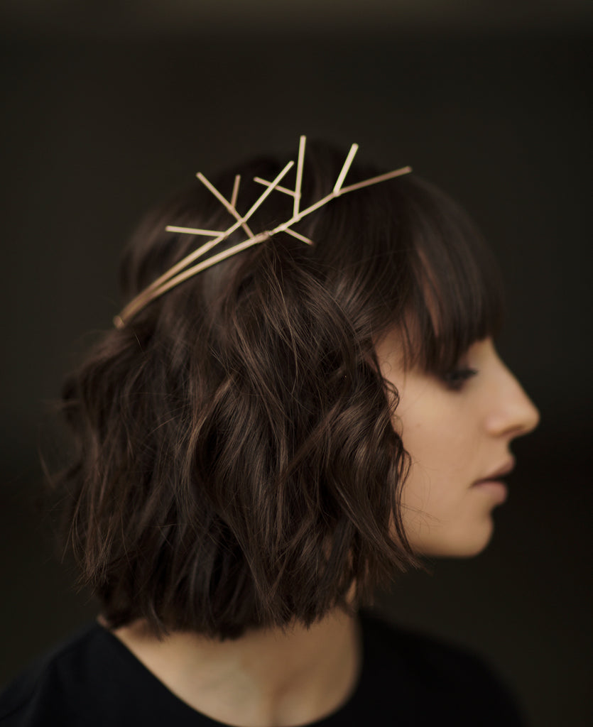 Gold-plated Head Piece ARIE