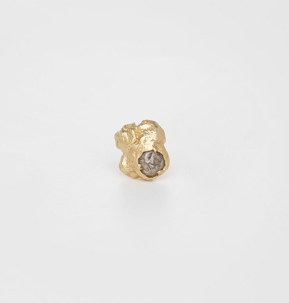 Diamond Rain Single Stud with Rosecut Diamond