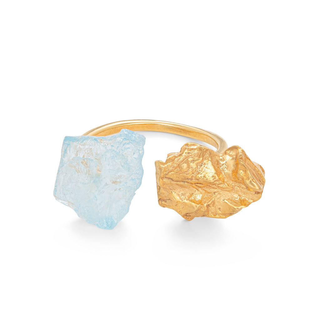 The Wild Flower Ring with Blue Topaz