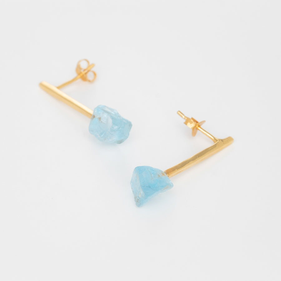 Suns & Daughters Earrings With Blue Topaz