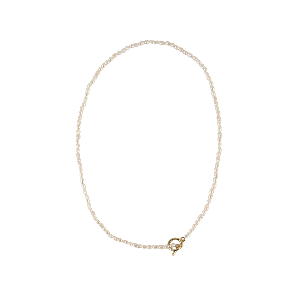 Pearl and 14k Yellow Gold Basic Choker
