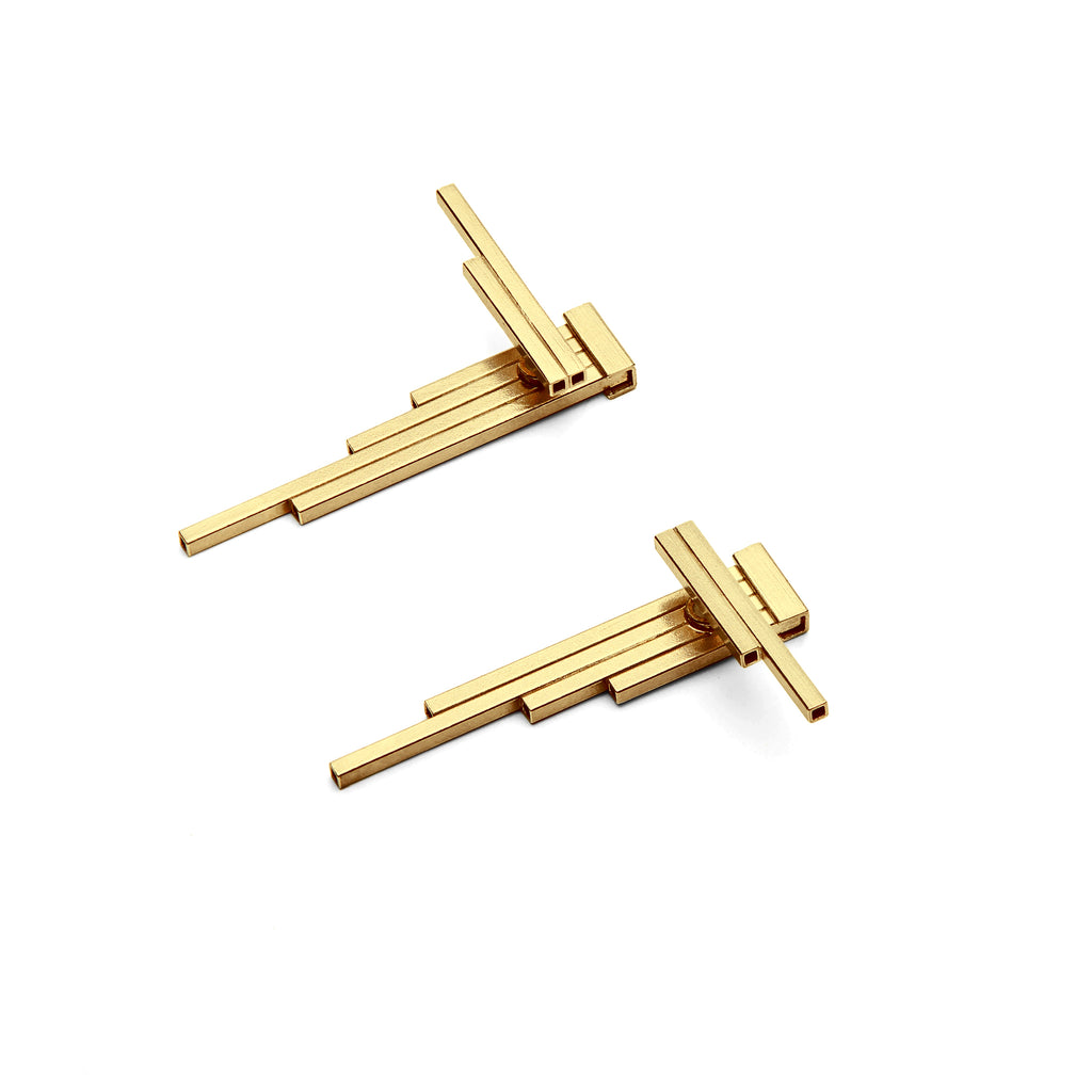 CONCORD Double-Sided Gold Plated Earrings