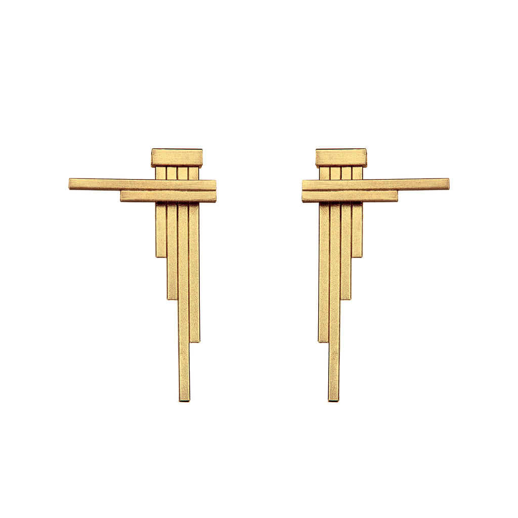 CONCORD Double-Sided Gold Earrings