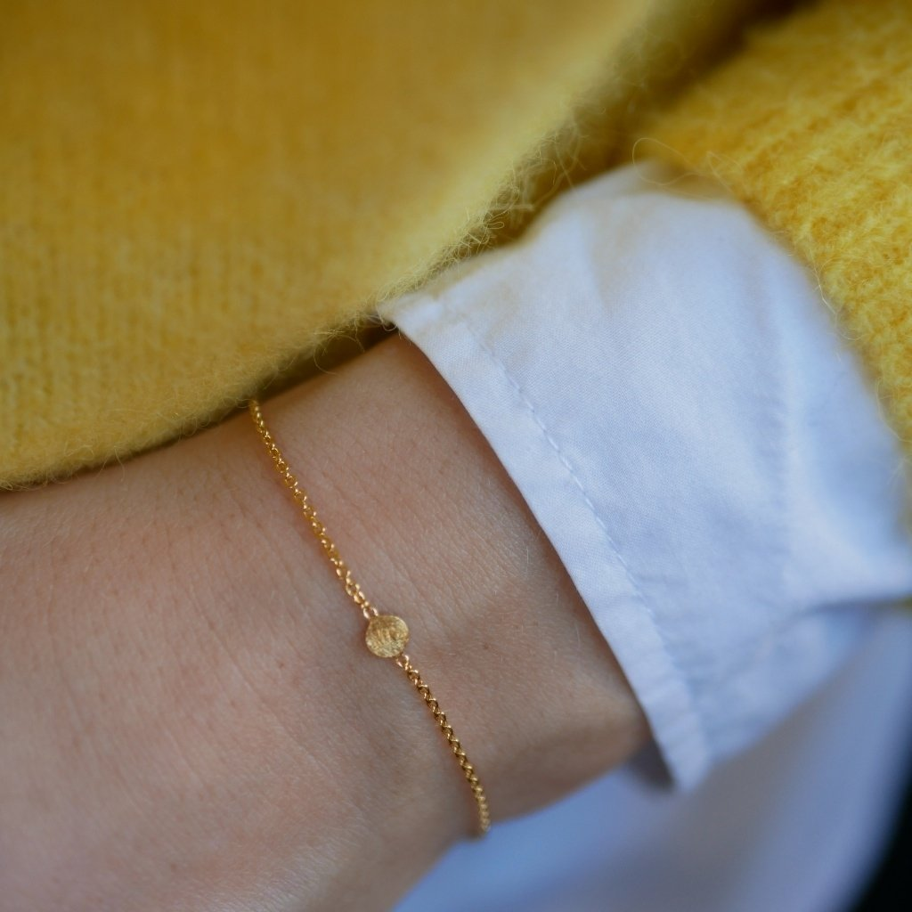 "Gold Plated Silver Bracelet ""Coin"""