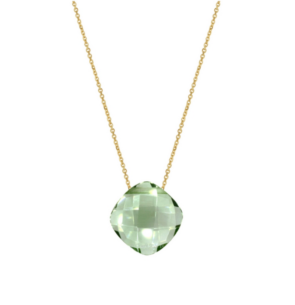 Prasiolite Pendant with Gold/Silver Chain