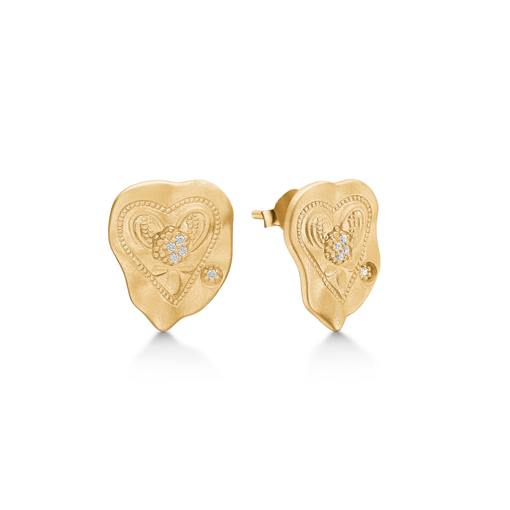 "Gold Plated Silver Earrings ""Darling"""