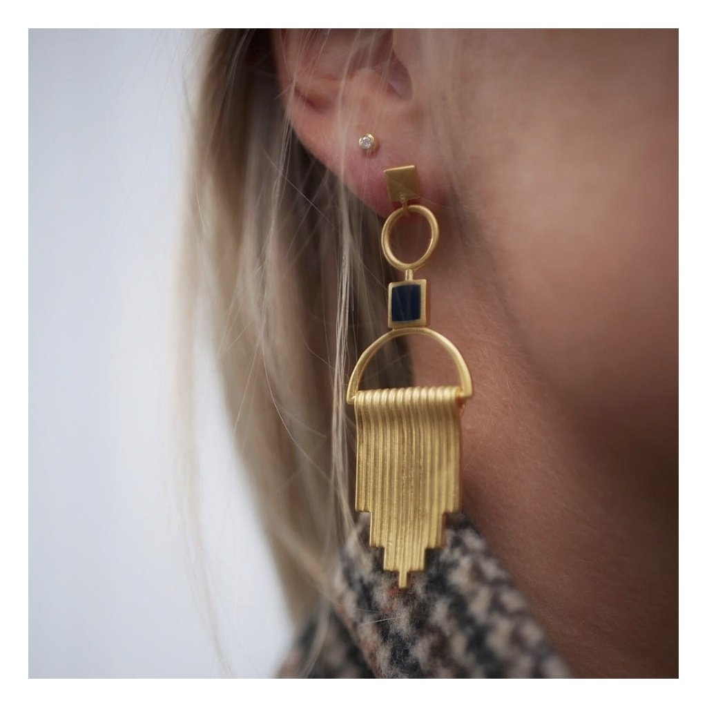 "Gold-plated Silver ""Majestic"" Drop Earrings"