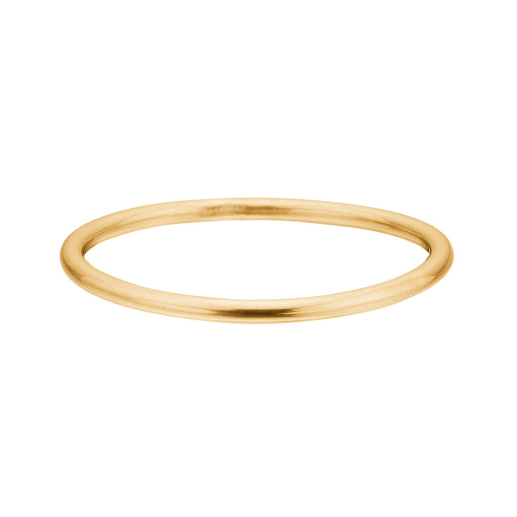 "18K Gold Plated Silver Ring ""Simple"""