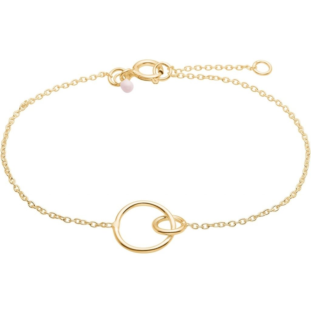 "Gold Plated Silver Bracelet ""Double Circle"""