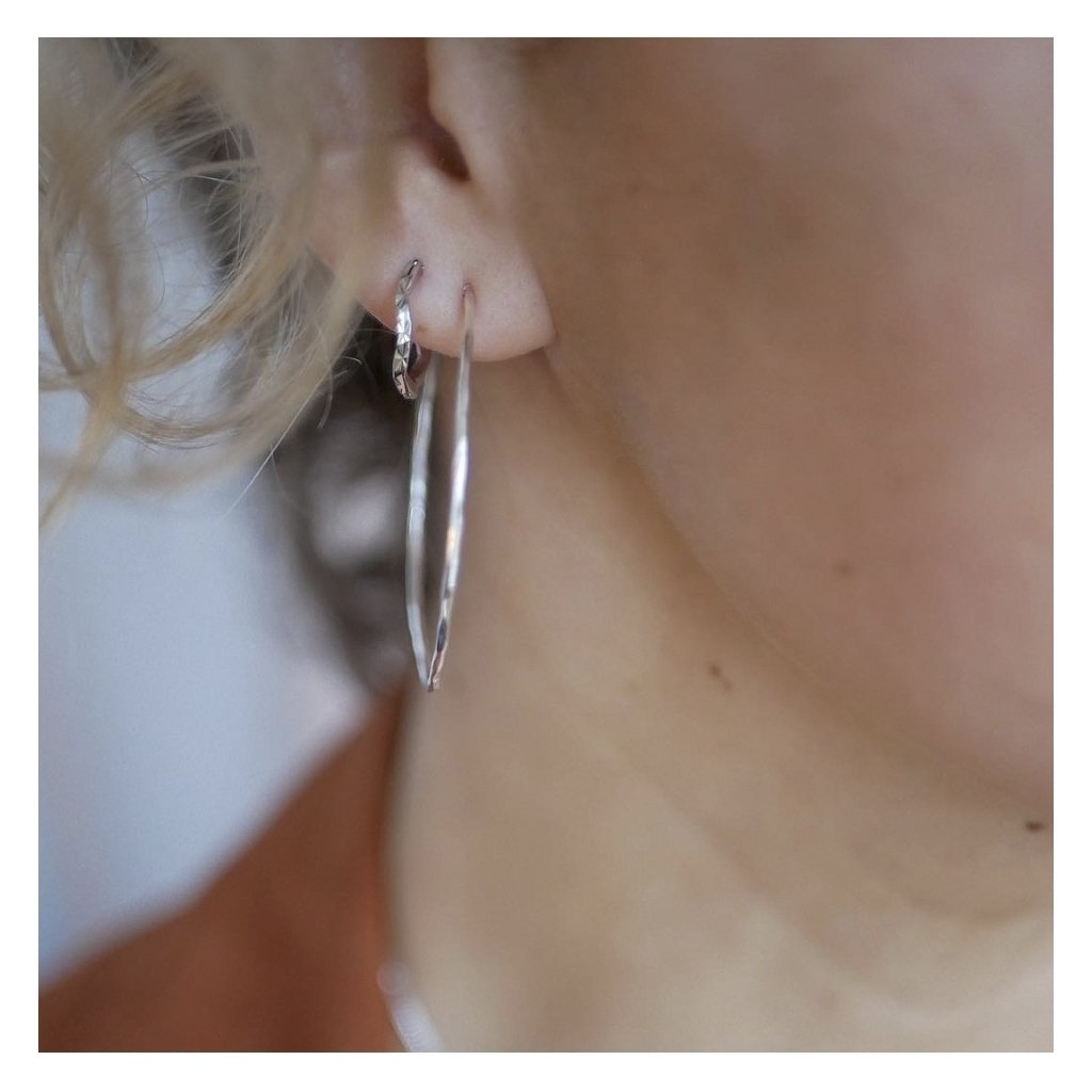 "Silver Earrings ""Simple Hoops"""